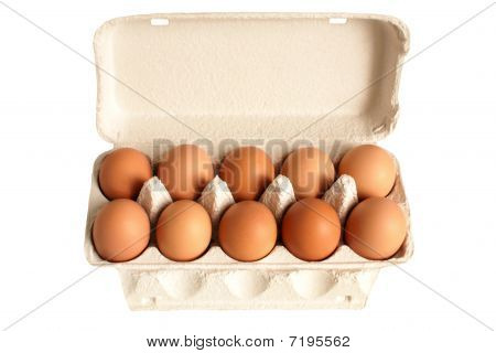 Open Box With Eggs