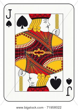 Jack of spades playing card