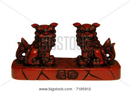 Japanese Shisa on white