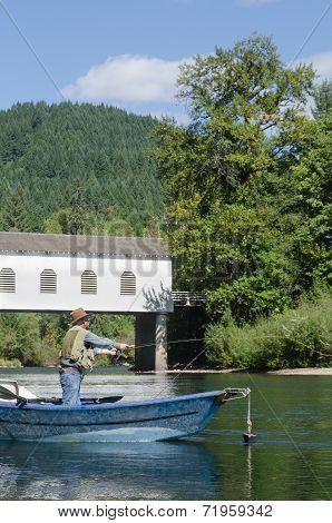 Fishing Below The Bridge