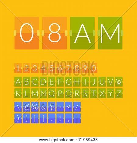 Flat countdown timer