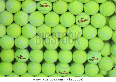 Fly Emirates Wilson tennis balls at Billie Jean King National Tennis Center