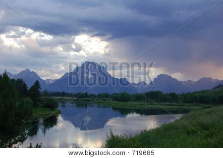 Teton Stormy Sunset
