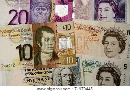 Scottish and English money