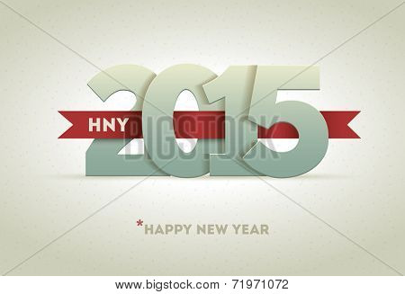 2015 Happy New Year. Vector greeting card design element.