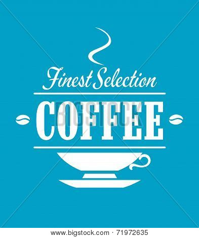 Finest selection coffee banner