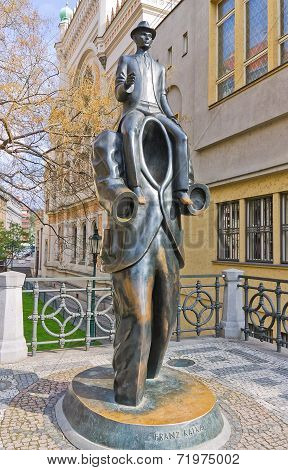 Monument To Franz Kafka In Prague, Czech Republic