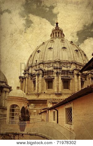 Dome Of Saint Peter's Basilica, Vatican City, Italy