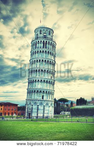 Leaning Tower of Pisa in Tuscany, Italy
