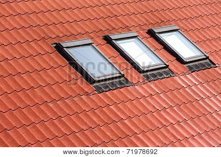 New Tiled Roof With Skylights
