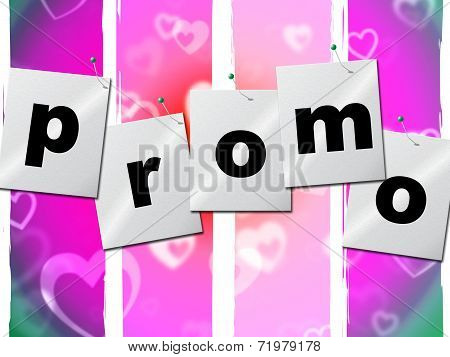 Promotion Promo Indicates Cheap Sale And Offer