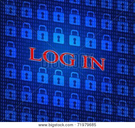 Log In Indicates World Wide Web And Encryption