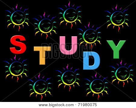 Education Study Means School Kids And Learned