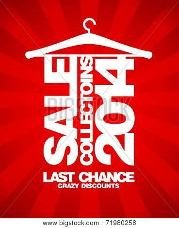 Sale collections 2014 text design.