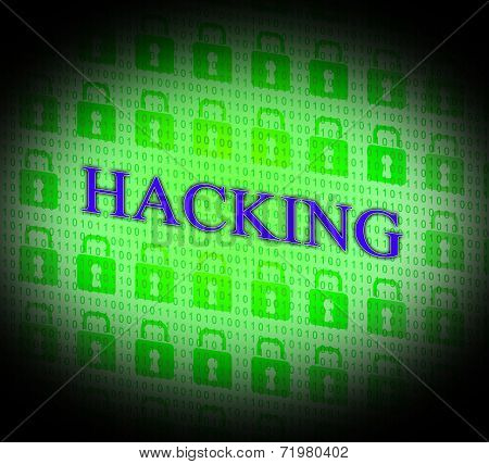 Hacking Online Indicates World Wide Web And Unauthorized