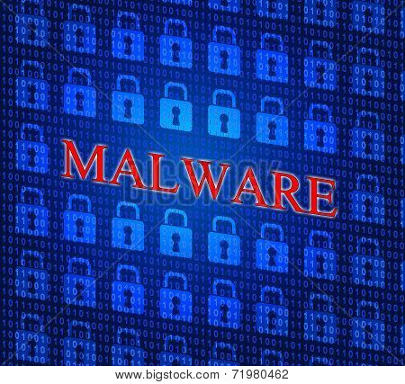 Malware Internet Represents World Wide Web And Www