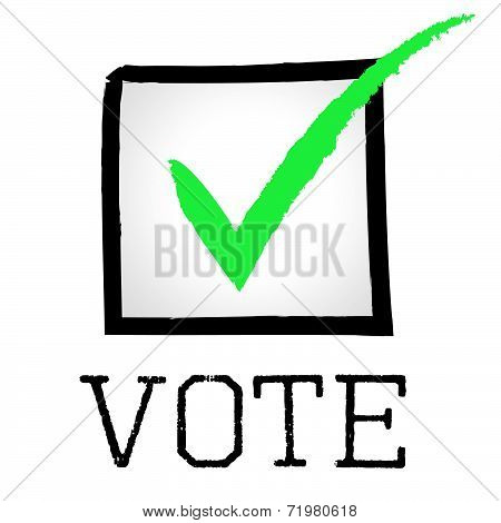 Vote Tick Means Passed Choosing And Poll