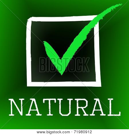Natural Tick Represents Yes Passed And Pass