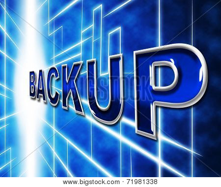 Computer Backup Shows Data Archiving And Archive