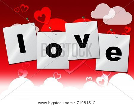 Heart Love Represents Valentine Day And Compassionate