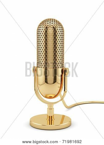 Golden Microphone Isolated