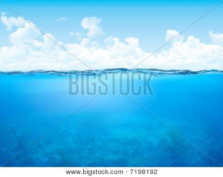 Línea de flotación y fondo submarino