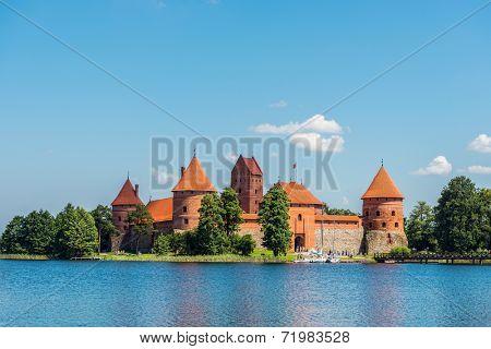 Trakai Castle . Island castle in Trakai.Lithuania