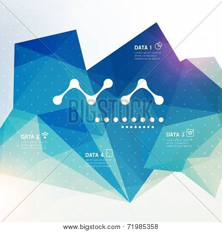 Abstract Modern Vector Flyer. Brochure Design Template. Geometric Triangular Background.