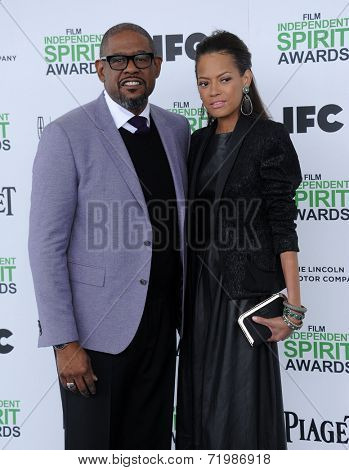 LOS ANGELES - MAR 01:  Forest Whitaker & Keisha Nash Whitaker arrives to the Film Independent Spirit Awards 2014  on March 01, 2014 in Santa Monica, CA.