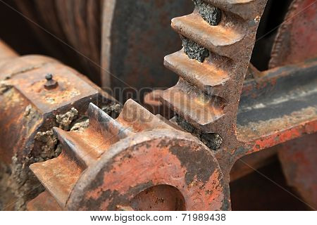 Cogwheels in an old machinery