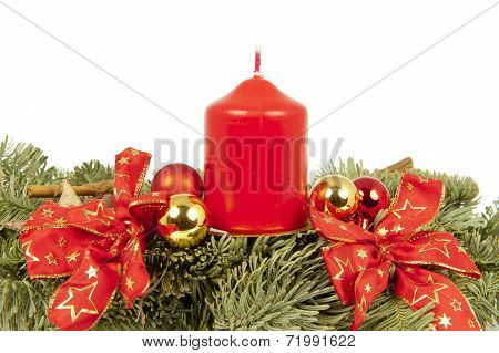 Christmas Piece Ribbon Balls Candles
