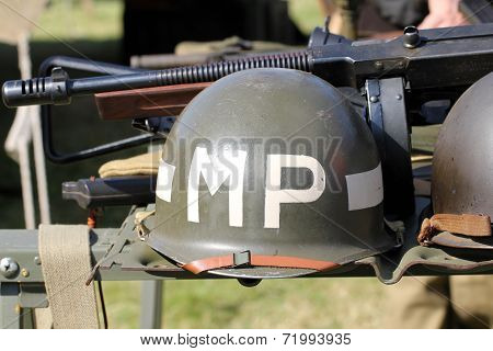 MP military police helmet