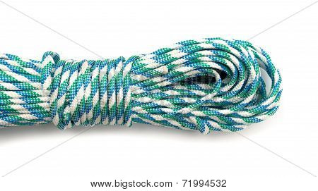 Coiled Nylon Rope Isolated On White Background