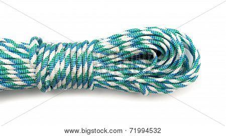 Coiled Nylon Rope Isolated On White Background