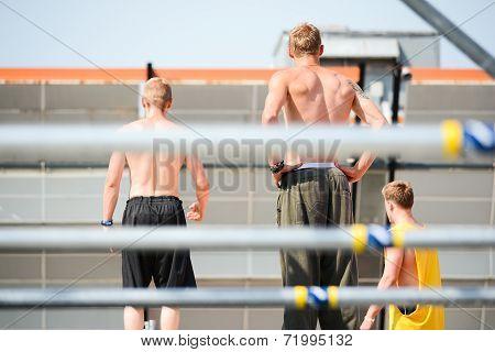 Three Boys Shirtless