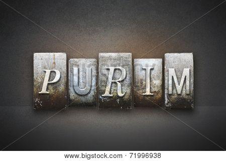 Purim Letterpress Concept