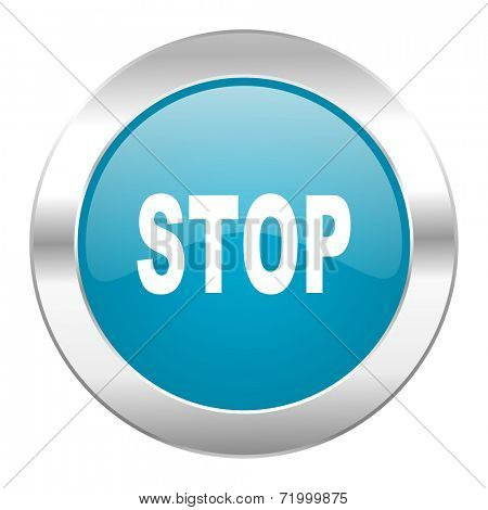 stop internet blue icon