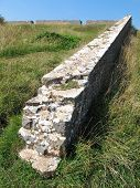 foto of stockade  - Fort fortification wall photographed at Berry Head in Devon - JPG