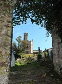 pic of dartmouth  - Castle and church graveyard photographed at Dartmouth in Devon - JPG