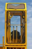 picture of heavy equipment operator  - Cabin of crane driver - JPG