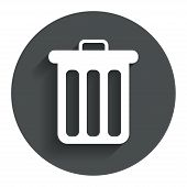 image of recycle bin  - Recycle bin sign icon - JPG