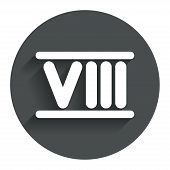 foto of roman numerals  - Roman numeral eight sign icon - JPG