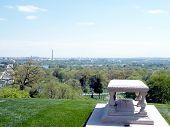 picture of arlington cemetery  - The Pierre Charles gravesite in Arlington National Cemetery Arlington Virginia USA - JPG