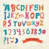 stock photo of alphabet  - Bright alphabet set in vector - JPG