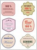 Best and premium quality retro label, tag or sticker set for best limited edition products and guara poster