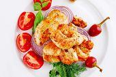 pic of brisket  - image of chicken brisket chunks on vegetables - JPG