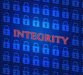 stock photo of integrity  - Data Integrity Indicating Ethical Reliable And Uprightness - JPG