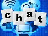 image of chat  - Chatting Chat Meaning Messenger Communicating And Talk - JPG
