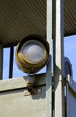 picture of khakis  - Green khaki projector for surveillance on war watchtower - JPG