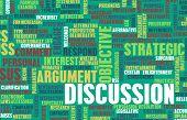 stock photo of debate  - Discussion or Debate as a Verbal Concept Art - JPG